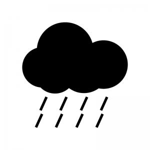 天気・雨のシルエット
