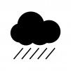 天気・激しい雨のシルエット