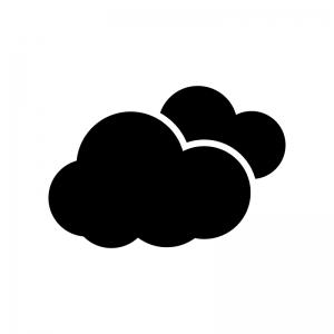 重なった雲・クラウドのシルエット