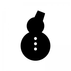 雪だるまのシルエット