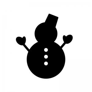 手が付いた雪だるまのシルエット