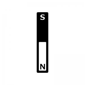 棒磁石のシルエット