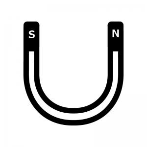 U字型の磁石のシルエットイラスト