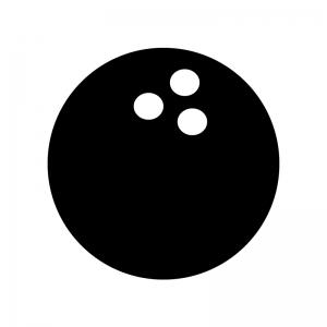 ボウリングの玉のシルエット