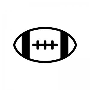 ラグビーボールのシルエット02
