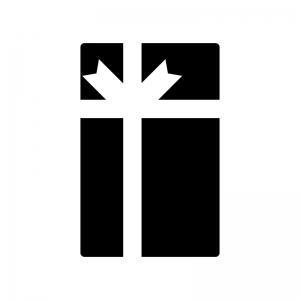 縦長のプレゼント箱のシルエット