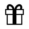 リボン付きプレゼント箱のシルエット03