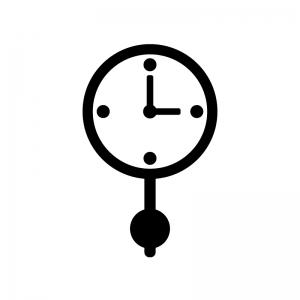 振り子時計のシルエット