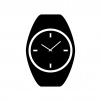 スポーツ腕時計のシルエット