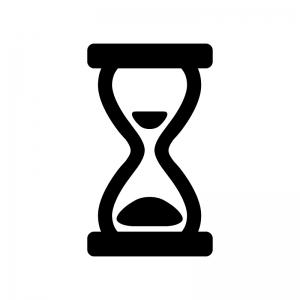 砂時計のシルエット02