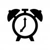 目覚まし時計のシルエット
