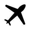 飛行機のシルエット