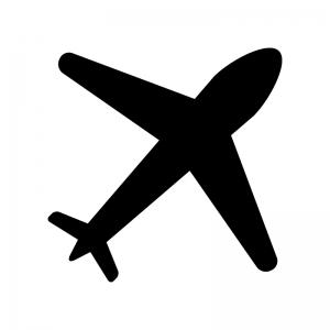 飛行機のシルエット. イラスト