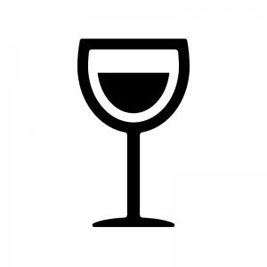 ワインが入ったワイングラスのシルエット