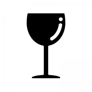 ワイングラスのシルエット02