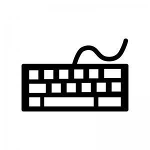 パソコンキーボードのシルエット