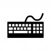 パソコンキーボードのシルエット02