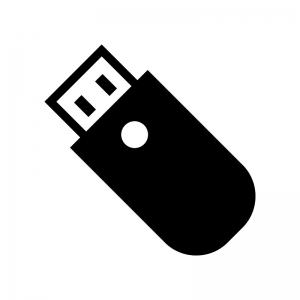 USBメモリのシルエット