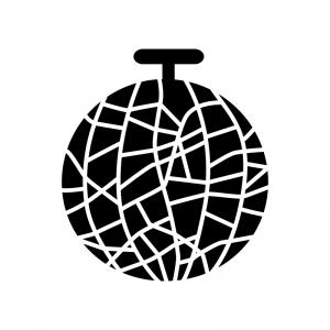 メロンのシルエット 無料のaipng白黒シルエットイラスト