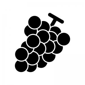 ぶどう巨峰のシルエット 無料のaipng白黒シルエットイラスト