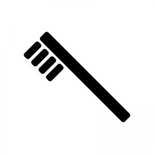 歯ブラシのシルエット