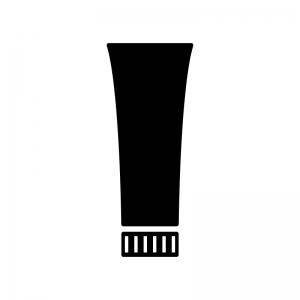 歯磨き粉・チューブの白黒シルエットイラスト素材