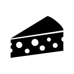 チーズの白黒シルエットイラスト素材