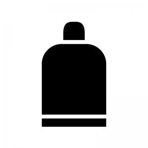 美容液ボトルの白黒シルエットイラスト素材