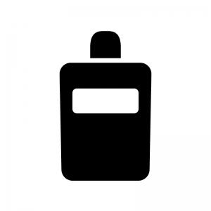 美容液ボトルの白黒シルエットイラスト素材02