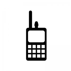 無線トランシーバーの白黒シルエットイラスト素材