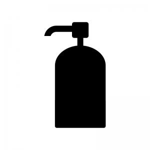 ポンプ容器の白黒シルエットイラスト素材02