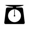 計りの白黒シルエットイラスト素材02