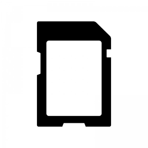 記憶メディアの白黒シルエットイラスト素材