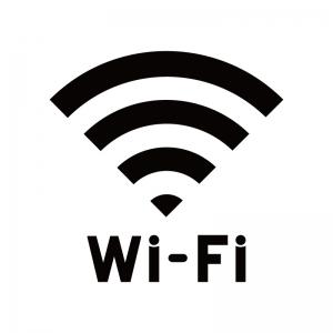 Wi-Fiマークのシルエット02