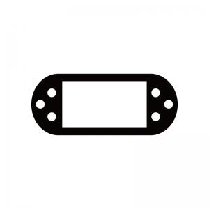 携帯ゲーム機のシルエット02