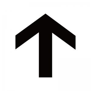 上向き矢印のシルエット