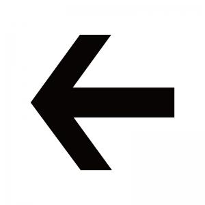 左向き矢印のシルエット02