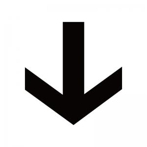下向き矢印のシルエット
