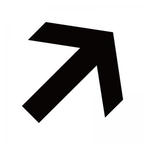 右上向き矢印のシルエット