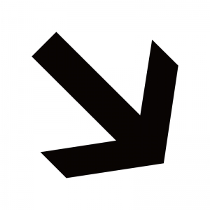 右下向き矢印のシルエット