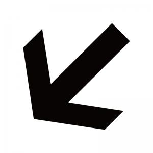 左下向き矢印のシルエット