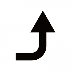 上向き矢印のシルエット02