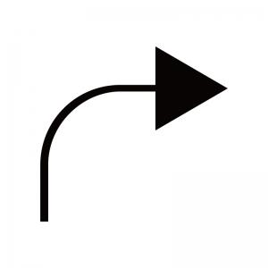 右向き矢印のシルエット04