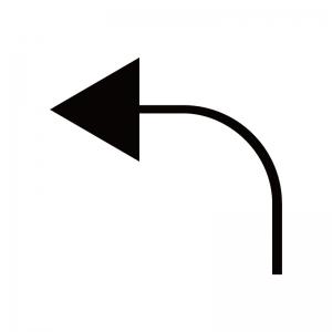 左向き矢印のシルエット04