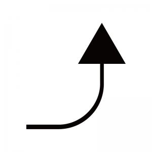 上向き矢印のシルエット03