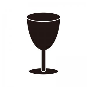 ワイングラスのシルエット