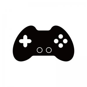 ゲームコントローラーのシルエット