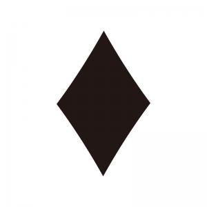 ダイヤ(トランプ)の白黒シルエットイラスト素材