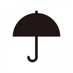 傘・パラソルのシルエット