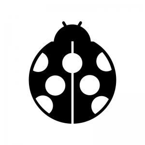 テントウムシのシルエット